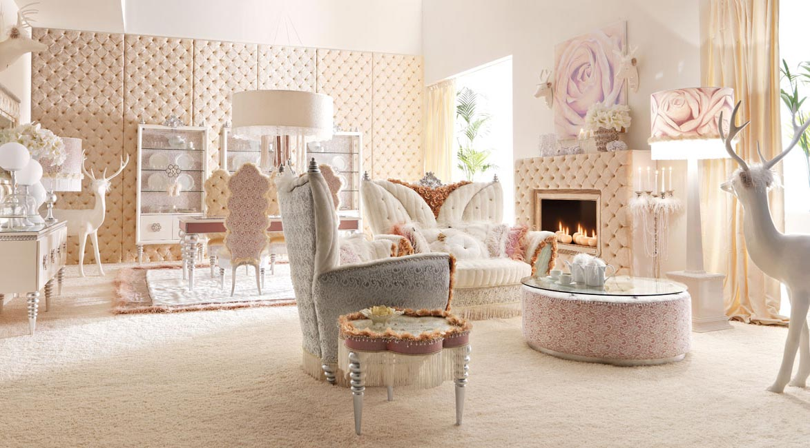Room designs by altamoda luxurious baby pink and white living room